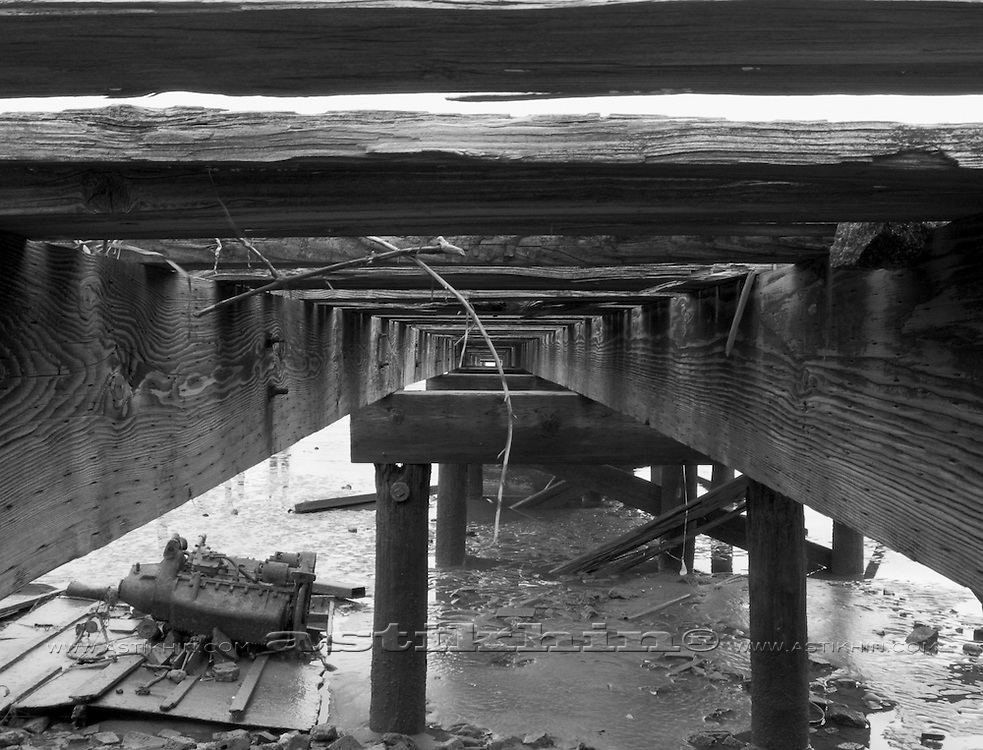 Old pier on Hudson River