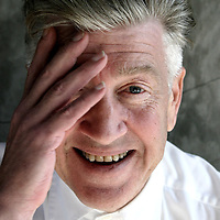 Director David Lynch photographed at his home in the Hollywood Hills