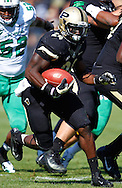 WEST LAFAYETTE, IN - SEPTEMBER 29: Akeem Shavers #24 of the Purdue Boilermakers runs the ball against the Marshall Thundering Herd at Ross-Ade Stadium on September 29, 2012 in West Lafayette, Indiana. (Photo by Michael Hickey/Getty Images) *** Local Caption *** Akeem Shavers