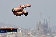 Bo Qiu China <br /> Diving Men's 10m Platform - Tuffi Piattaforma 10m Uomini <br /> Barcellona 27/7/2013 Piscina Municipal <br /> Barcelona 2013 15 Fina World Championships Aquatics <br /> Foto Andrea Staccioli Insidefoto