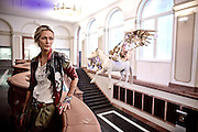 Frankfurt am Main | 12 November 2015<br /> <br /> Performance Artist Mia Florentine Weiss with her horse Pegasos at the opening of her exhibition &quot;Der Nabel der Welt&quot; (The Navel Of The World) at Senckenberg Museum in the german city of Frankfurt am Main.<br /> <br /> photo &copy; peter-juelich.com