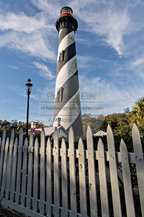 St. Augustine Lighthouse on Anastasia Island in St Augustine, Florida.