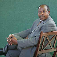 PAUL RUSESABAGINA, hotel manager who saved the lives of thousands of people during Rwandan genocide, inspiration for the movie 'Hotel Rwanda'. EDINBURGH INTERNATIONAL BOOK FESTIVAL. Thursday 24th August 2006. Over 600 authors from 35 countries are appearing at the Edinburgh International Book festival during 12th-28th August. The festival takes place in historic Edinburgh city, a UNESCO City of Literature.