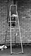 Man up Ladder, London, Britain - 2007