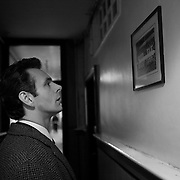 Actor Michael Sheen as the football manager Brian Clough in the film The Damned United