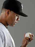 GLENDALE, ARIZONA - FEBRUARY 23:  Jose Quintana #62 of the Chicago White Sox poses for a portrait during Photo Day on February 23, 2017 at Camelback Ranch in Glendale Arizona.  (Photo by Ron Vesely).  Object:  Jose Quintana