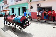 Water delivery in Holguin, Cuba.