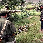 1998 Anlongveng, Cambodia<br /> <br /> Election, guerilla attack to a village.
