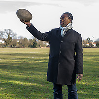 Serge Betsen, photographié à Raynes Park (Prince George's playing field). 7 mars 2015.