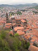 A view over Le-Puy-en-Velay and its Cathedral. The view is in the direction of the Way of Saint James to the South-West.
