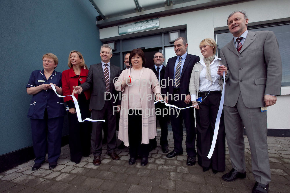 9/2/2009.The Minister for Health and Children Mary Harney pictured at the opening of the new Out Patients building at St Lukes Hospital in Kilkenny yesterday..Picture Dylan Vaughan.