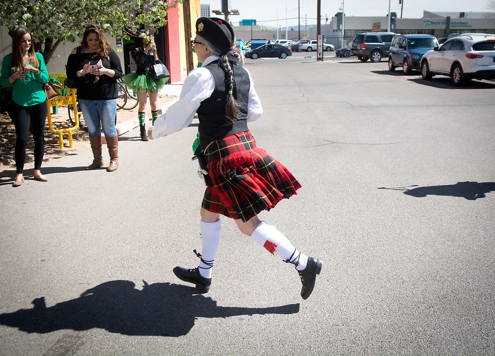 St. Patrick's Day with High Desert Pipes and Drums<br /> (Marla Brose/Albuquerque Journal)