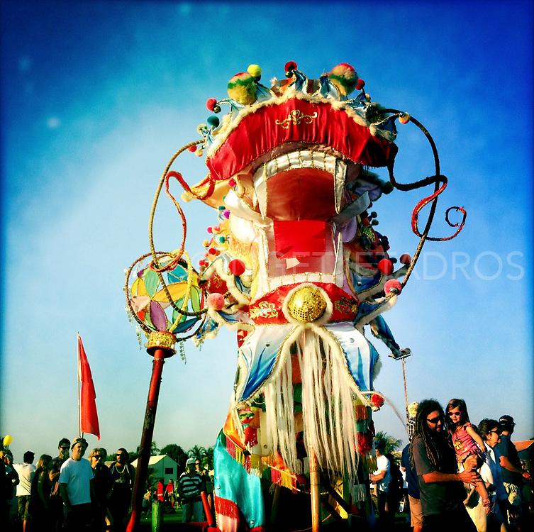 Sammy the Dragon, the colourful mascot of Shinju Matsuri, Festival of the Pearl. Broome. WA