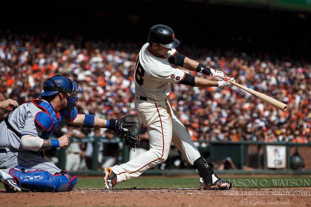 SAN FRANCISCO, CA - OCTOBER 02: Buster Posey #28 of the San Francisco Giants at bat against the Los Angeles Dodgers during the second inning at AT&T Park on October 2, 2016 in San Francisco, California. The San Francisco Giants defeated the Los Angeles Dodgers 7-1. (Photo by Jason O. Watson/Getty Images) *** Local Caption *** Buster Posey