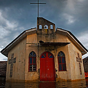 The community of Belen includes churches and water treatment plants, evidence of foreign missionaries that have long abandoned their posts. Image © Jonah Markowitz/Falcon Photo Agency