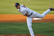 Ole Miss' Matt Crouse (20) pitches vs. Mississippi State at Oxford-University Stadium in Oxford, Miss. on Thursday, May 12, 2011. (AP Photo/Oxford Eagle, Bruce Newman)