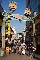 Takeshita Street in Harajuku, is a pedestrian shopping street that caters to young Japanese,  selling mostly clothes and fashion accessories.
