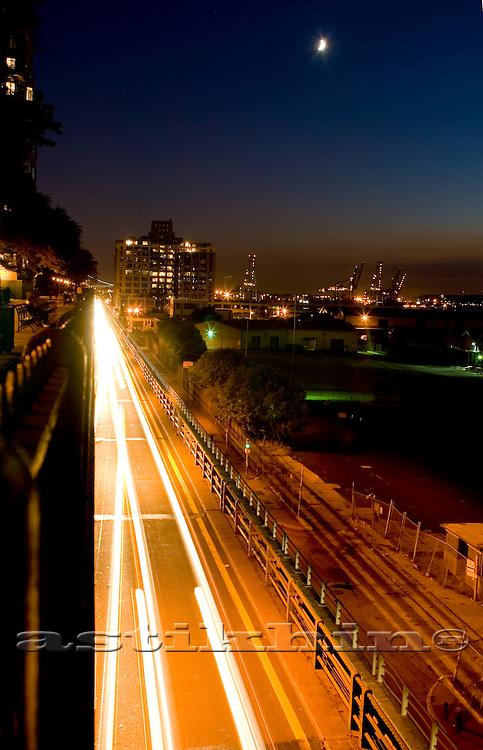 Highway on twilight