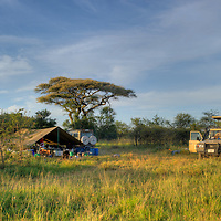 Tent camp in Serengeti National Park