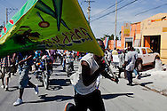 People protest the results of the first-round presidential election on Thursday, December 2, 2010 in Port-au-Prince, Haiti.
