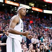 21 December 2012: Boston Celtics small forward Paul Pierce (34) celebrates during the Milwaukee Bucks 99-94 overtime victory over the Boston Celtics at the TD Garden, Boston, Massachusetts, USA.