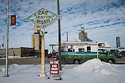 A protest bus is parked outside of a venue where Senator and 2016 Republican presidential candidate, Ted Cruz (R-TX), is scheduled to speak to potential supporters during a campaign event at the North Star Restaurant in Fenton, IA on January 29, 2016. Cruz is in Iowa campaigning in the final days before the Iowa Caucus.<br /> <br /> The Iowa Caucus is the first major electoral event of the nominating process for President of the United States. Both the Democratic and Republican Iowa Caucus will occur on February 1, 2016.