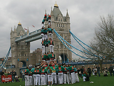 APR 19 2013 The Human Towers of Barcelona in London