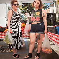 Calistoga resident and mortgage agent Marina Tolstunov and her daughter, Deana, shop at the Saturday Market.