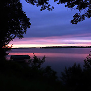 sunrise on Lake Minnetonka,