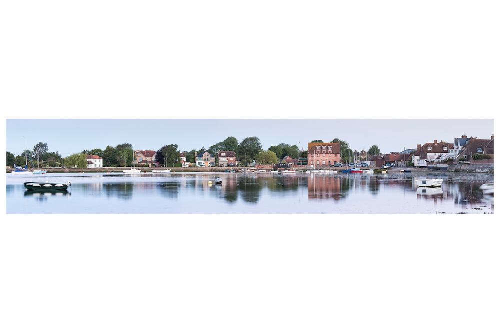 An unusual view across Emsworth harbour, on the Hampshire Sussex border. Beautiful still reflections in the water.    //   High quality prints are available from &pound;23, with a choice of sizes and finishes. Print dimensions match readily available frames. For larger prints, we recommend professional mounting and framing. Multiple prints of similar size share one delivery charge, and next day delivery is available on orders placed before 1pm. Christmas deadline - 22nd December 2016. Full money-back guarantee if you're not happy for any reason.   //   <br /> Beautiful landscape picture by Christopher Ison &copy;<br /> 07544044177<br /> chris@christopherison.com<br /> www.christopherison.com