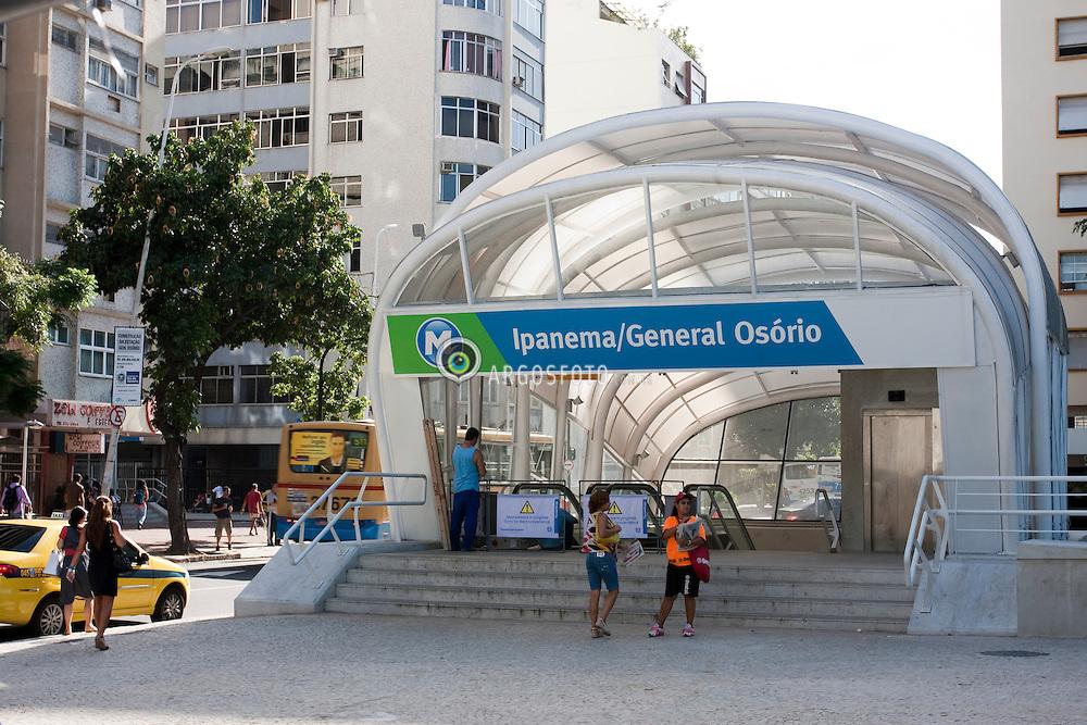 Ipanema-General Osorio Station of Rio's metro, the final stop of Line 1 / Estacao Ipanema-General Osorio do metro do Rio, estacao final da linha 1.