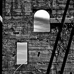 Deteriorating walls of Alcatraz, San Francisco, California