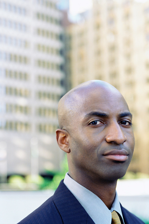 Portrait of actor and model, Walter Jackson for a stock shoot in downtown Seattle, Washington.