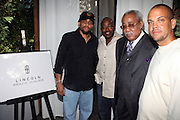 l to r:  Michael Ely, Will Packer, Chuck Morris, and Quincy Jones III (QD3) at the Lincoln Presents ' Off the Red Carpet ' at The 2008 American Black Film Festival at The Sofitel Hotel on August 9, 2008..' Off the Red Carpet ' celebrates the film careers of Hollywood insiders and soon to be released films by Black Filmmakers.