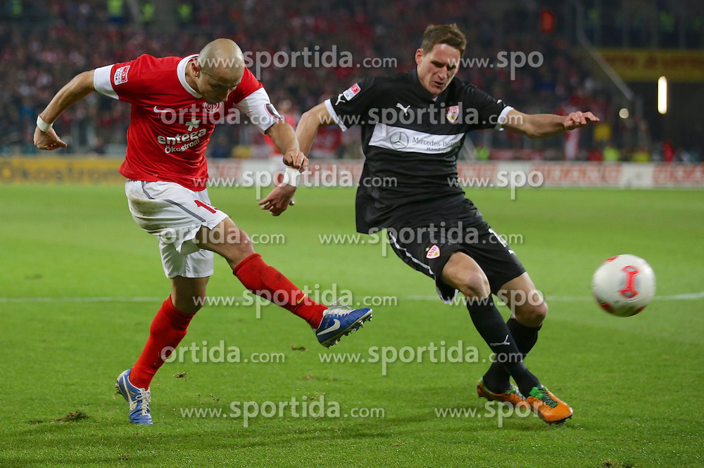 15.12.2012, Coface Arena, Mainz, GER, 1. FBL, 1. FSV Mainz 05 vs VfB Stuttgart, 17. Runde, im Bild Elkin SOTO (FSV Mainz 05 Kapitaen - 19) erzielt das 3-1 // during the German Bundesliga 17th round match between 1. FSV Mainz 05 and VfB Stuttgart at the Coface Arena, Mainz, Germany on 2012/12/15. EXPA Pictures © 2012, PhotoCredit: EXPA/ Eibner/ Gerry Schmit..***** ATTENTION - OUT OF GER *****