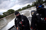 Greek commandos patrol the Evros river along the land border with Turkey, which was met with skepticism at home as well as from many EU officials.  It has allegedly succeeded in blocking one of the most popular transit routes for migrants seeking to make their way to the West.  Image © Angelos Giotopoulos/Falcon Photo Agency