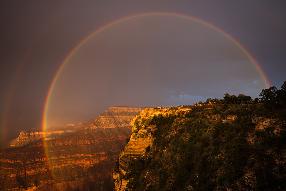 Rainbow at the Grand Canyon. From the Mather Point on the South Rim.