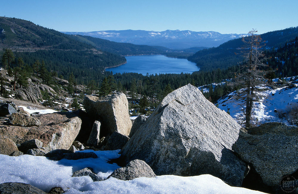 &quot;Donner Lake 3&quot;- Photographed from the west end of Donner Lake, facing toward the town of Truckee, CA.<br />
