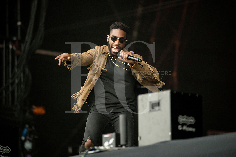 Tinie Tempah performs on Day 2 of the T in the Park festival at Strathallan Castle on July 09, 2016 in Perth, Scotland. (Photo by Ross gilmore)