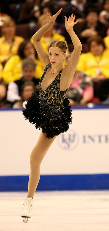 (Ottawa, ON---1 November 2008)  Carolina Kostner competes in the women's free skate at the 2008 HomeSense Skate Canada International figure skating competition. Photograph copyright Sean Burges/Mundo Sport Images (www.msievents.com).