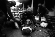 Australian troops, members of Interfet, disarm and arrest members of the Aitarak Militia, Dili East Timor September 21, 1999.
