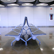 passenger waiting lounge in airport, madrid, spain