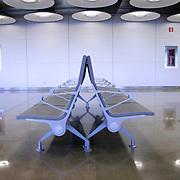 passenger waiting lounge in airport, madrid, spain
