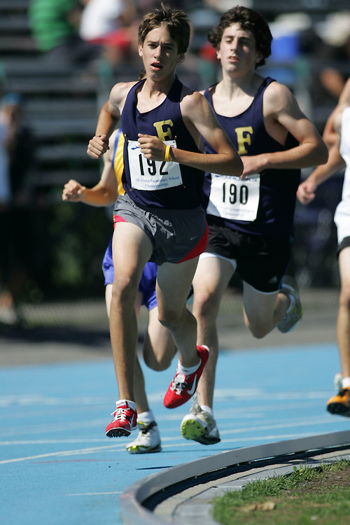 Evan Esselink competing in the 3000m at the 2007 Ontario Legion Track and Field Championships. The event was held in Ottawa on July 20 and 21.