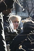 Angelina Jolie on film set of ' Salt ' taping in Washington Heights, NYC