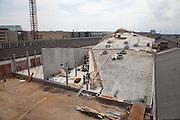 Godsbanen, The Freight Yard Project during construction Aarhus, Denmark. Architect: 3XN
