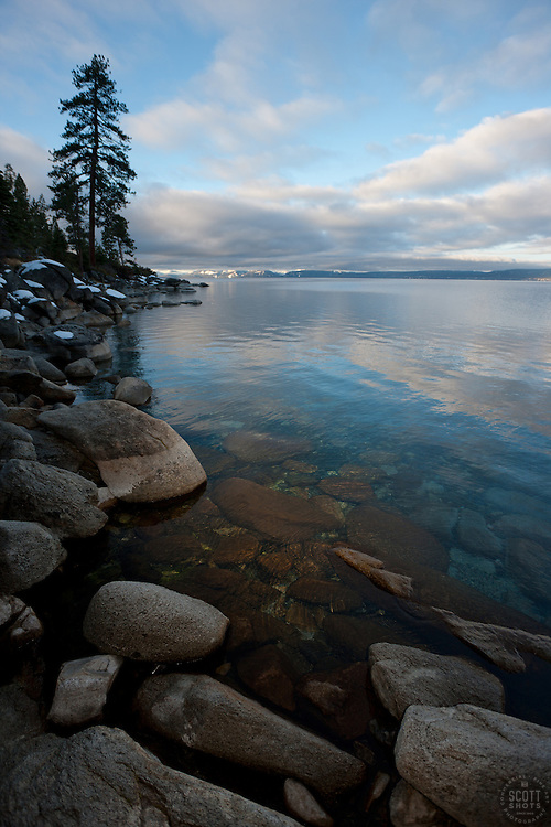 """Boulders at Lake Tahoe 28"" - These boulders were photographed in the morning near Memorial Point, Lake Tahoe."