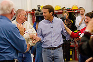 U.S. Democratic Presidential candidate John Edwards speaks to supporters during a campaign stop in Bedford, Iowa October 25 2007.