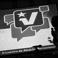 Aristóbulo Istúriz, jefe de Comando del Partido Socialista Unido de Venezuela (PSUV) durante la reunión de Alcaldes Bolivarianos realizada en el Hotel Alba Caracas. 19 Agosto, 2010. (Ivan Gonzalez).