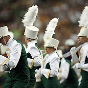 SHOT 8/31/08 5:32:13 PM - The Colorado State University Marching Band performs for the crowd prior to kickoff of the 2008 Rocky Mountain Showdown game at Invesco Field at Mile High in Denver, Co. Colorado won the game 38-17 before a crowd of nearly 70,00. The rivalry game featured the debut of new Colorado State head football coach Steve Fairchild and the debut of highly recruited Colorado tailback Darrell Scott. .(Photo by Marc Piscotty / © 2008)